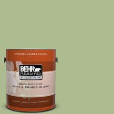 1 gal. #M370-4 Chervil Leaves Hi-Gloss Enamel Interior Paint
