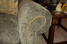 Furniture How To Upholster A Sofa Which On The Arm Of The Sofa Mounted Accessories In The Form Of A Small Gold Ball Of Gold How to Upholster a Sofa Easily