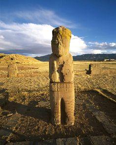 *TIAHUANACO RUINS: Bolivia....MS-3074 - ID: 38139 © Jim  Zuckerman