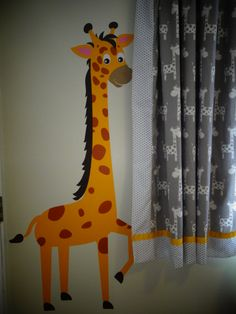 Our Nursery End Result So Hy With These Curtains And How It Blends In The Graphic