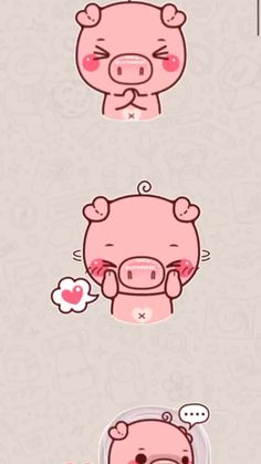 Send cool stickers in WhatsApp and spice up the boring group chats! Pig Wallpaper, Cartoon Wallpaper Iphone, Cute Cartoon Wallpapers, Animal Wallpaper, Watch Wallpaper, Kawaii Wallpaper, Cute Food Drawings, Cute Kawaii Drawings, Cute Cartoon Drawings