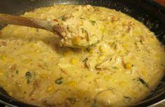 Szaftosan az igazi! Tejszínes, kukoricás csirketokány, mindössze 30 perc alatt   femina.hu Ha, Cheeseburger Chowder, Soup, Chicken, Soups, Cubs