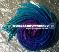 """Violet Ocean"" 26DE 16""-19"" Wool & Silk #wooldreads #violet #violethair #violetdreads #purplehair #purpledreads #sapphire #ocean #bluehair #bluedreads #dreads #nvcl3arbvtt3rfly #handmade #wool #dreadlocks #festivalwear #midnight #merinowool #merinowooldreads Violet Hair, Purple Hair, Wool Dreads, Dreadlocks, Turquoise Hair Ombre, Ombre Hair Extensions, Festival Wear, Sapphire, Braids"