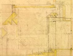 Carlo Scarpa's drawings for the Brion Cemetery, 1971.