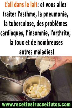 L'ail dans   le lait: et vous allez traiter l'asthme, la pneumonie, la tuberculose,   des problèmes cardiaques, l'insomnie, l'arthrite, la toux et de   nombreuses autres maladies!#remèdesmaison  #santé#santénaturelle  #conseilsanté Ranger, Medical, Stuff Stuff, Circulatory System, Arthritis, Milk With Turmeric, Active Ingredient