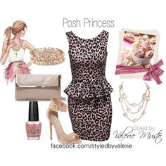 "#posh #dresses #Peplum #leopard #LeopardPrint #nude ""Posh Princess"" by styled-by-valerie-musto on Polyvore"