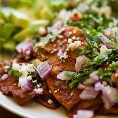 Chilaquiles with all the fixins'. From Pioneer Woman.