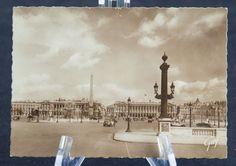 Postcard Paris France RPPC Place de la Concorde B&W Sepia Guy