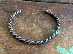 Vintage Navajo Native Handmade Braid Twist Rope Cable Sterling Cuff Bracelet by Holliezhobbiez on Etsy