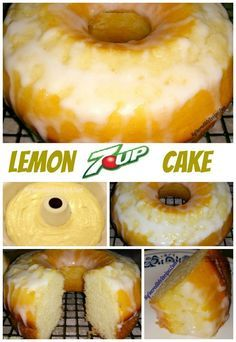 Easy Lemon Cake – this is one of the most DELICIOUS cakes I've ever mad… - Cake Recipes 13 Desserts, Lemon Desserts, Lemon Recipes, Sweet Recipes, Lemon Cakes, Lemon 7up Cake Recipe, Quick Recipes, Sundrop Cake Recipe, Cake Mix Desserts