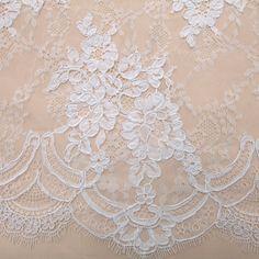 Tecido renda chantilly cordonê branco