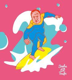 #surfboarding #surfing #illustration #uncle #surfboard #bluewater #summer #sea #illustgram #daddy#father#cool #senbatoufu #toufu #kawagoe #おじさん #波乗り #オジクミ #イラスト #サーファー #サーフィン#ボード #海 #夏 #父さん #かっこいい #仙波豆富 #豆腐 #川越 #おやじ