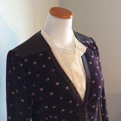 Patrizia Luca jacket Dark brown, 100% cotton patterned jacket with faux leather details, machine washable Patrizia Luca Jackets & Coats
