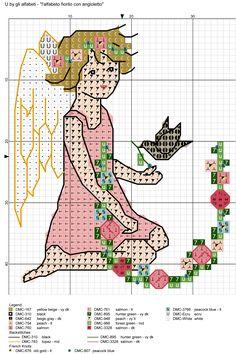 Resultado de imagen de alfabeto fiorito con angioletto U
