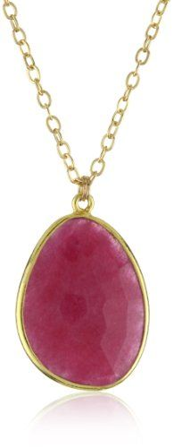 Mary Louise Ruby Red Pendant Necklace « Holiday Adds