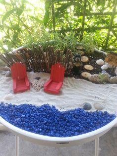 Florida beach fairy garden