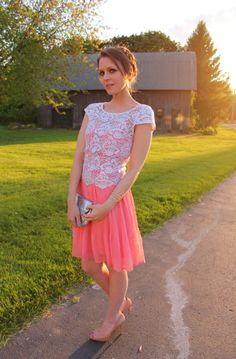 Cute idea from Penny Pincher Fashion: Date Night.  Crochet top over a spaghetti strap dress.