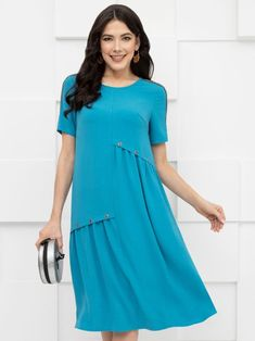 Plus Size Work Dresses, Dresses For Work, Casual Wear, Casual Outfits, Fancy Kurti, Casual Street Style, Hijab Fashion, Ready To Wear, Short Sleeve Dresses