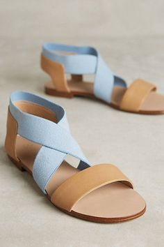 Splendid Cassandra Sandals - I don't normally like sandals, but these are in a nice style and I like the blue. Strappy Sandals, Shoes Sandals, Heels, Cloth Sandals, Flat Sandles, Camel Sandals, Beige Sandals, Tan Flats, Sandals Outfit