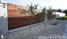 Ogrodzenie z płyt betonowych - zdjęcie od contractors - Ogród - Styl Nowoczesny - contractors