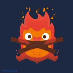 """""""The Fire Demon"""" by maped. Sold at The Yetee."""