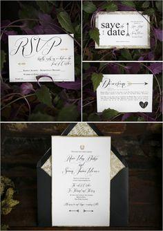 romantic wedding invite