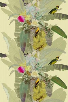 Love this wallcovering from Timrous Beasties - Merian Palm. Thinking about Ikea hacking....