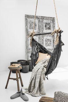 Provincial Hanging Hammock Chair    Ivory & Deene