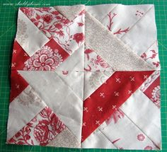 Way easy jelly roll quilt block. Sew all around 2 strip pieced squares and the magic occurs when you cut. Also called 3 Dudes jelly roll  quilt. 3 Dudes call it Majestic Mountain. Printable PDF instructions at  http://www.3dudesquilting.com/documents/LetsStripItMajesticMountainQuiltPDF.pdf