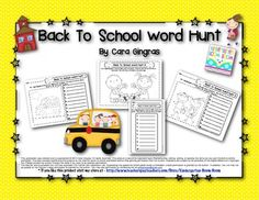 Back To School Sight Word Hunt - (Kindergarten and First Grade Sight Word/Literacy) This is a set of 12 different games that can be played independently, with partners, or as a center. The games cover 60 sight words. All you need are the game boards, crayons, pencils, and a magnifying glass. The students will use the magnifying glass to search a picture for hidden sight words. When they find the word they can record it in the space provided. $