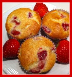 Simple Strawberry Muffins.  So easy and yummy!