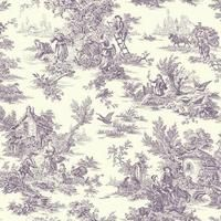Campagne Toile Wallpaper in Purple by Ashford House for York Wallcover – BURKE DECOR