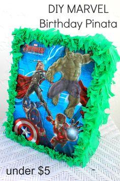 Second Chances Girl: DIY MARVEL Avengers Birthday Pinata (Under $5).  #BDayOnBudget #ad