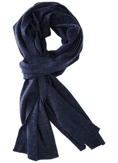 Patrol Knit Scarf - Tanzanite - A luxurious and classic scarf for your warmth and styling needs. Jersey knit with rib trim at both ends and edges of scarf. - 100% Merino Wool. - Length: 80 inches 18.5 inches. - Imported.