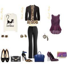 """Walking the royal catwalk to work"" by destitutediva on Polyvore #fashion #outfit #womenswear #style #moschino #mossimo #target #lipsy #houseoffraser #jonesnewyork #charlotteolympia #flats #leopardprint #slacks #Debenhams #sergiorossi #toryburch"