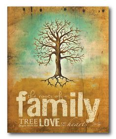 Another great find on #zulily! 'Family' Wrapped Canvas #zulilyfinds