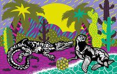 #colors #beach #illustration #crocodile #casiegraphics www.casiegraphics.com