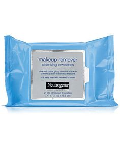 Neutrogena Make Up Remover Towelettes.  A lot less expensive than name brands, work better, and have a fresh clean scent too.