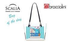 La borsa di oggi è la Braccialini della linea Window,estiva e sofisticata #bagoftheday #bags #fashion #braccialini