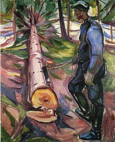 theartgeeks: The Lumberjack ~ Edvard Munch