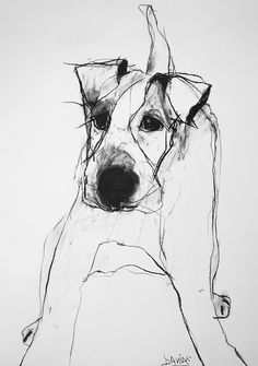 TROWBRIDGE - Valerie Davide Dogs - Meet some 'friends' of artist Valerie Davide. Some well recognised four-legged friends come to . Fuchs Illustration, Art And Illustration, Life Drawing, Painting & Drawing, Animal Drawings, Art Drawings, Pencil Drawings, Dog Paintings, Dog Portraits