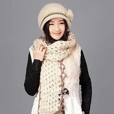 Woolen Clothes, Hat And Scarf Sets, Hats For Women, Winter Hats, Beanie, Pure Products, Casual, Fashion, Moda