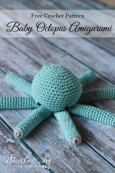 FREE Crochet Pattern: Make this adorable amigurumi baby octopus for your little…