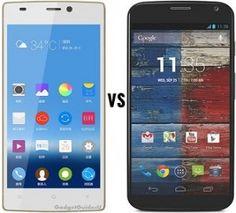 Motorola Moto X vs Gionee Elife S5.5