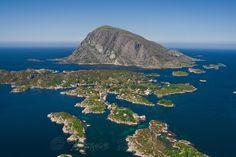 Fanøy and Batalden near Florø Norway