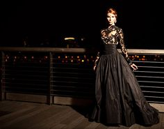 O vestido de noiva preto mais lindo
