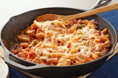 Italian chicken and pasta skillet.  Will use with my own gravy. Looks delish and easy