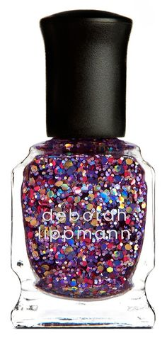 Glitter nail polish for the holiday season!