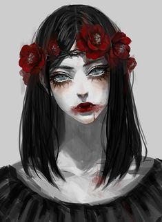 Bloody anime girl