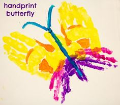 handprint butterfly @ Rub Some Dirt On It